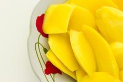 Tranches de mangue Image stock