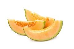 Tranches de melon de cantaloup Images stock