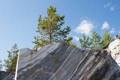 Tranches de montagne de marbre Images stock