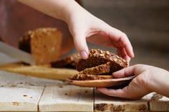 Tranches de pain de seigle Image stock