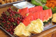 Tranches de pastèque Images stock