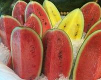 Tranches de pastèque Image stock