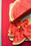 Tranches de pastèque Photographie stock