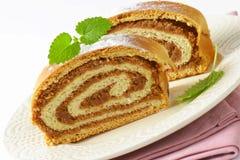Tranches de petit pain de noix image libre de droits