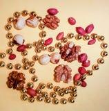 Tranches de petits pains d'arachide photographie stock