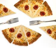 Tranches de pizza Photo libre de droits