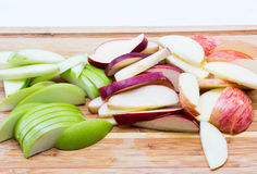 Tranches de pommes Image stock