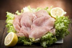Tranches de poulet Image stock