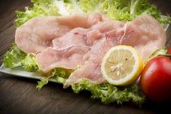 Tranches de poulet Photographie stock libre de droits