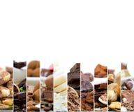 Tranches de préparation de chocolat Photographie stock libre de droits