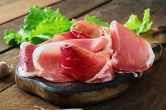 Tranches de prosciutto Photo libre de droits