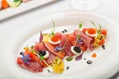 Tranches de saumons secs Images libres de droits