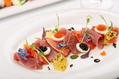 Tranches de saumons secs Image stock