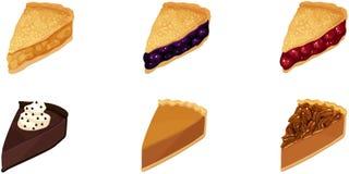 Tranches de tarte illustration libre de droits