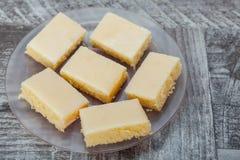 Tranches de tarte de limette Image stock