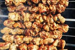 Tranches de viande image stock
