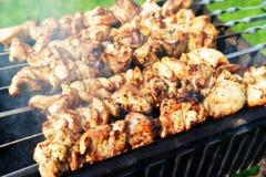 Tranches de viande images stock