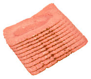 Tranches de viande de pastrami Photographie stock