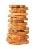 Tranches empilées de pain photos stock