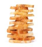 Tranches empilées de pain images libres de droits
