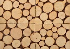 Tranches en bois comme fond Image libre de droits