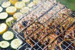 Tranches et courgette de viande Photo stock