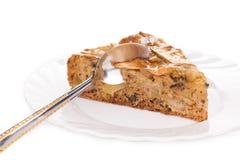 Tranches fraîches de gâteau Images libres de droits
