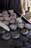 Tranches frites de saucisses grillées Photographie stock