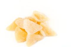 Tranches gommeuses organiques de pamplemousse Photos stock