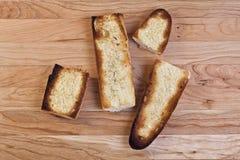 Tranches grillées de baguette Image libre de droits