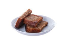 Tranches grillées de pain de seigle Photo libre de droits