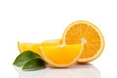 Tranches oranges Image libre de droits