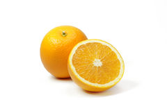 Tranches oranges de fruit Photos stock