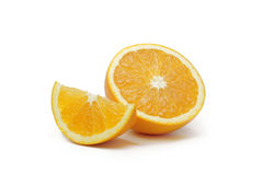 Tranches oranges de fruit Photo stock