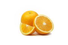 Tranches oranges de fruit Image stock