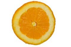 Tranches oranges de roud coupées pour le fond Photos stock