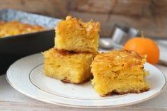 Tranches oranges de tarte Photos libres de droits