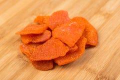 Tranches organiques de piment de mangue Image stock