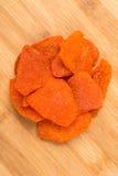 Tranches organiques de piment de mangue Photo libre de droits