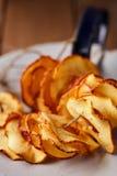 Tranches sèches de pomme Photo libre de droits