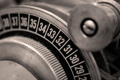 Trancheuse analogique de film image stock