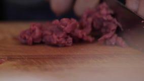 Trancheuse de viande banque de vidéos