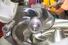 Trancheuse en aluminium de nourriture Photos stock