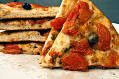 Tranci di focaccia Royalty Free Stock Photos