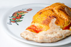Tranditional calzone pizza Royalty Free Stock Images