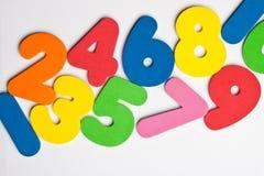 Traînée horizontale des nombres Image libre de droits
