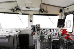 Trane operator's cab Royalty Free Stock Images