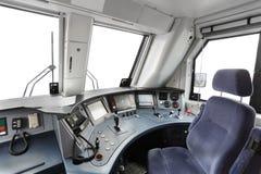 Trane operator's cab Royalty Free Stock Photo