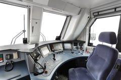 Trane operator's cab Stock Photos
