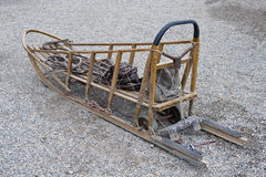 Traîneau en bois de crabot Photo stock